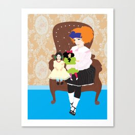 Sweet girls Canvas Print