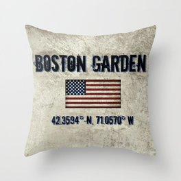 Remembering the Old Boston Garden Throw Pillow