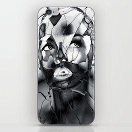 WOMAN IN BLACK WHITE iPhone Skin