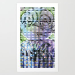 When competing visual inputs collaborate for incomprehension achievement. Art Print