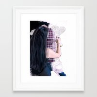 boyfriend Framed Art Prints featuring Drawing boyfriend by Rebeca Zum