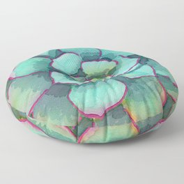 Sunset Succulent Floor Pillow