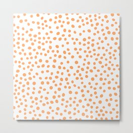 Orange doodle dots Metal Print