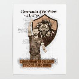 As Roma daniele de rossi Poster