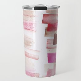 3 | 181101 Watercolour Palette Abstract Art | Lines | Stripes | Travel Mug