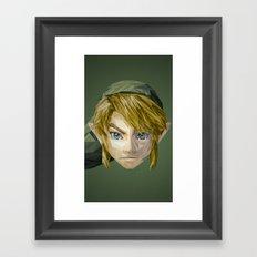 Triangles Video Games Heroes - Link Framed Art Print