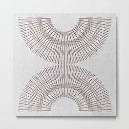 SPARK BROWN ON WHITE Metal Print