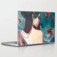 geisha Laptop & iPad Skins featuring Geisha by Nicolas Jamonneau