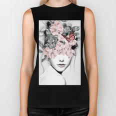 WOMAN WITH FLOWERS 10 Biker Tank