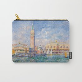 The Palace of the Doge's & St. Mark's Square Venice Italy landscape painting by Pierre Renoir Carry-All Pouch