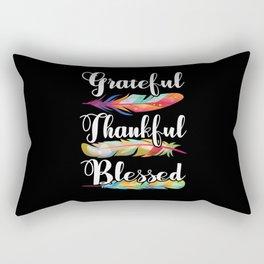 Thanksgiving Grateful Thankful Blessed Rectangular Pillow