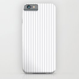 Soft Grey Mattress Ticking Narrow Striped Pattern - Fall Fashion 2018 iPhone Case