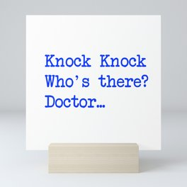 Knock-Knock 4 Mini Art Print