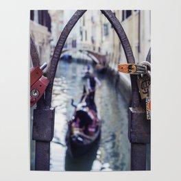 Romantic Venice Love Locks Poster