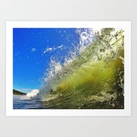 surf Art Prints featuring Surf by Nicklas Gustafsson