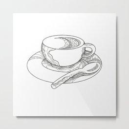 Cup of Coffee Doodle Metal Print