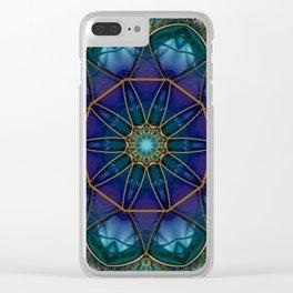 Moonstone Mandala Clear iPhone Case