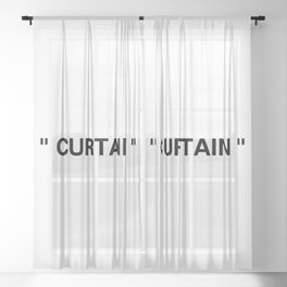 """ Art "" Sheer Curtain"