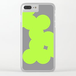 neon colour chain Clear iPhone Case