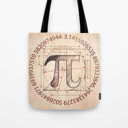 Pi Symbol Sketch Tote Bag