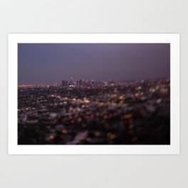 Angel City Lights (L.A. at Night) Art Print