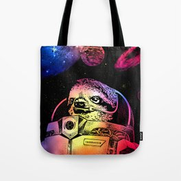 Astronaut Sloth Tote Bag