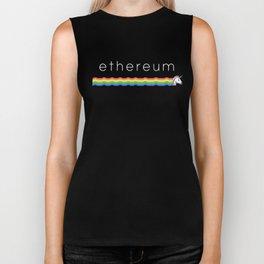Ethereum unicorn - Authentic Design Biker Tank