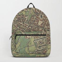 Vintage Map of Ghent Belgium (1650) Backpack