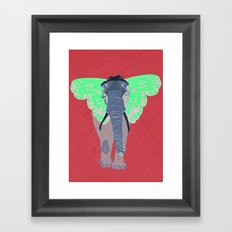 Elephant Butterfly Framed Art Print