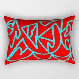 Red blue turquoise gar Rectangular Pillow
