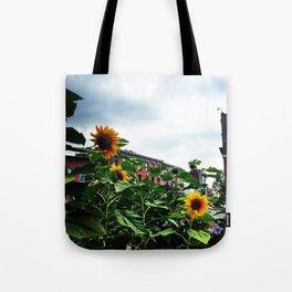 Sunflowers on Main Street - Beacon NY Tote Bag