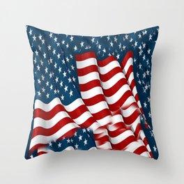 "ORIGINAL  AMERICANA FLAG ART ""STARS N' BARS"" PATTERNS Throw Pillow"
