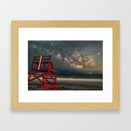 Milkyway at Good Harbor Beach 6-11-18 Framed Art Print