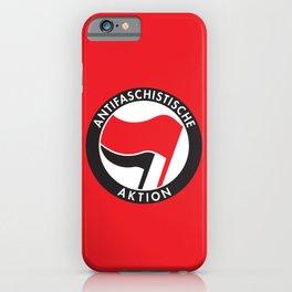 Antifaschistische Aktion iPhone Case