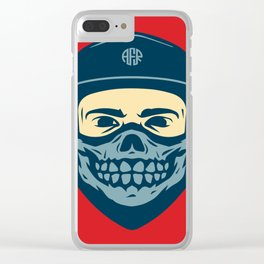 Guy, Cap & Bandana Clear iPhone Case