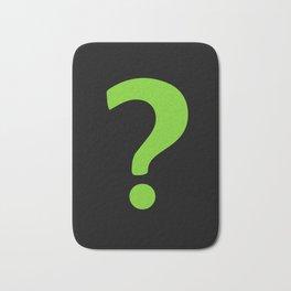 Enigma - green question mark Bath Mat
