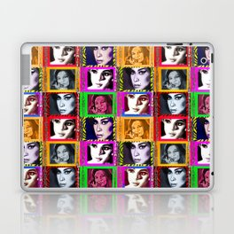 LIZ SELLEY ART ICONS PAINTINGS COLLAGE Laptop & iPad Skin