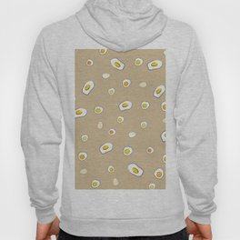 Egg Pattern Sand Art Print Cartoon Egg Yolks Modern Style Hoody