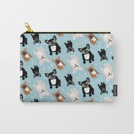 Frenchie Lover French Bulldog Pattern Carry-All Pouch