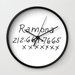 Ramona Flowers Phone Number Wall Clock