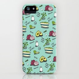 Guacamole Heaven | Avocados| Guac Pattern | Ingredients iPhone Case
