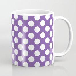 White Polka Dots with Purple Background Coffee Mug