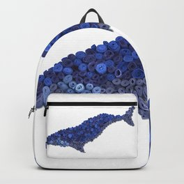 HUMPBACK WHALE- Hand-Rolled Paper Art Backpack