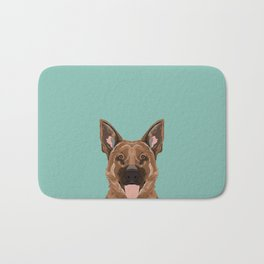 Skylar - German Shepherd gifts for dog people dog lover gifts german shepherd owners perfect gifts Bath Mat