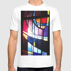 Stained Beauty MEDIUM Mens Fitted Tee White