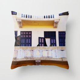 balconies and doors Throw Pillow