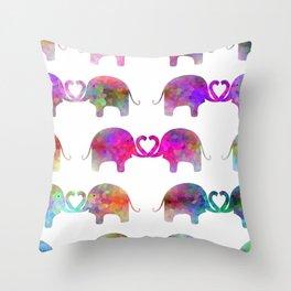 Elephant Soul Mate Throw Pillow