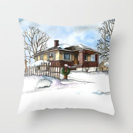 A Bungalow in the Country Throw Pillow