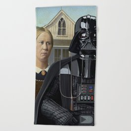 Darth Vader in American Gothic Beach Towel