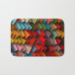 colorful rectangles with shadows Bath Mat